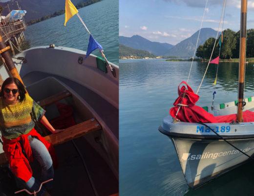 Segelkurs, Tegernsee, Tagesausflug, Sailing, Jolle, Segelboot, Sailingboat