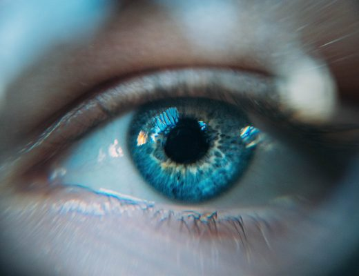 Blaues Auge in Nahaufnahme