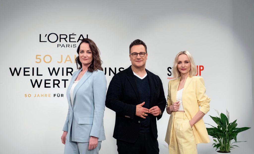 Weltfrauentag und die Initiative Stand UP von L'Oréal Paris dazu ein Talk mit Natalie Wörner, Guido Maria Kretschmer moderiert von Janin Ullmann