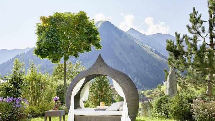 Relaxgarten im Hotel Singer in Bergwang