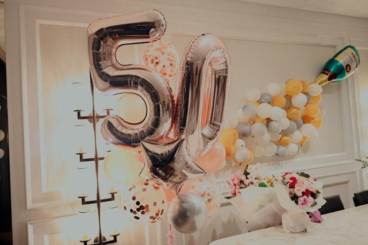 50 plus Dekoration